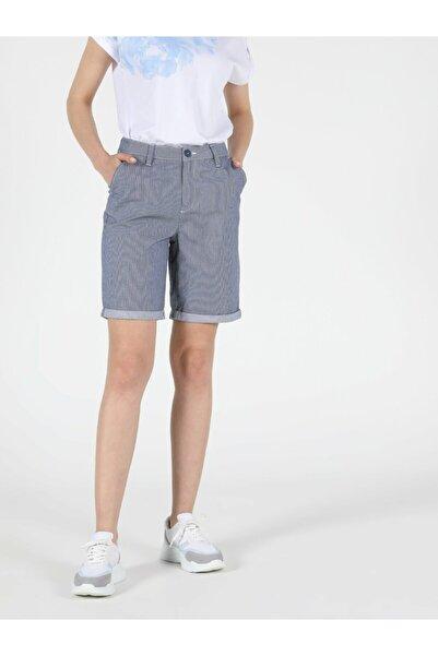 Colin's KADIN Slim Fit Yüksek Bel Kadın Açık Mavi Şort CL1048948
