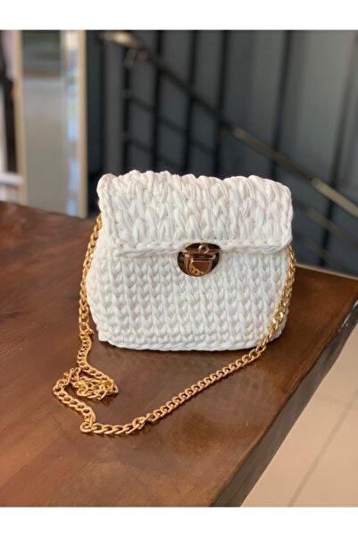 Accessories Kadın Beyaz Örgü Çanta