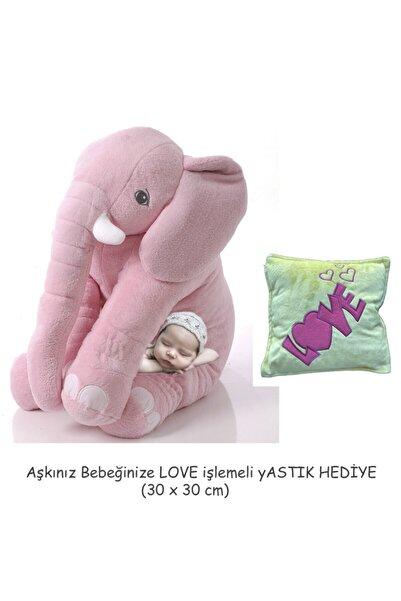 Sole Yastık Hediye- Uyku Arkadaşım Fil 65cm - Toy Elephant (pembe)