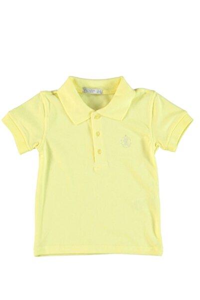 Monna Rosa Erkek Bebek Sarı Polo Yaka T-shirt