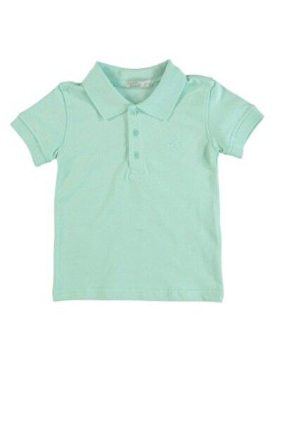 Monna Rosa Erkek Çocuk Yeşil Polo Yaka T-shirt