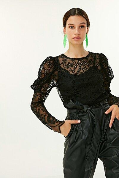 Twist Kadın Siyah Fisto Bluz TW6200006074