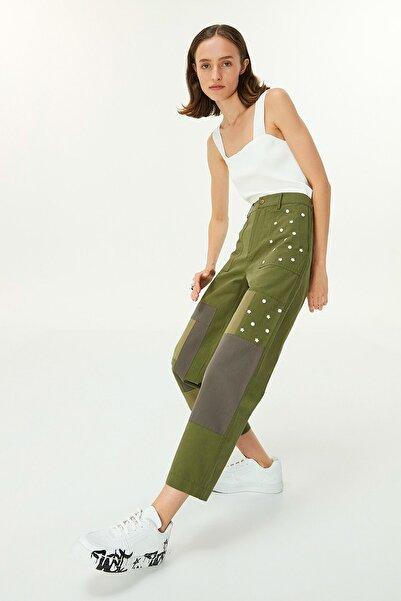 Twist Kadın Haki Patchwork Pantolon TW6200003061