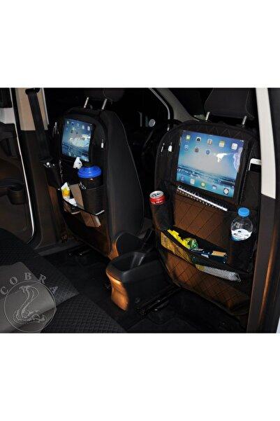 gönen deri Araba Koltuk Arkası Baklava Desen Organızer Ceplik Araç Eşya Düzenleyicisi + 5 Yıl Garanti