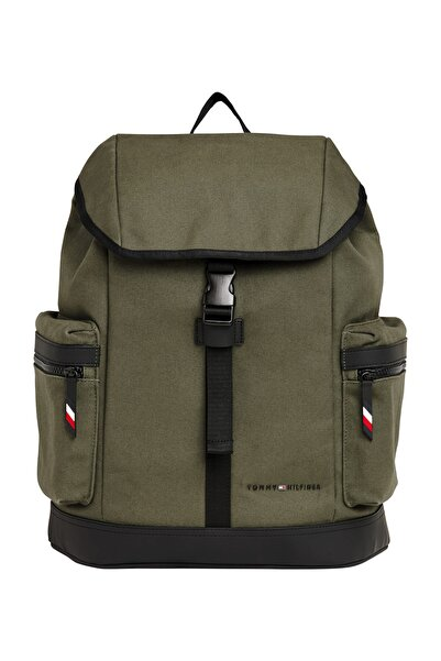 Tommy Hilfiger UTILITY CANVAS FLAP BACKPACK