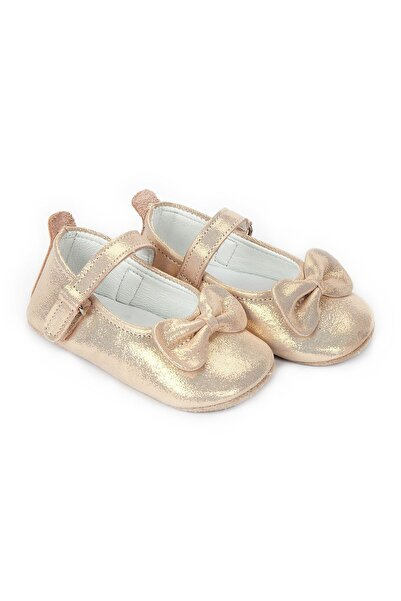 Funny Baby Naturel Deri Fiyoklu Babet Bebek Ayakkabı