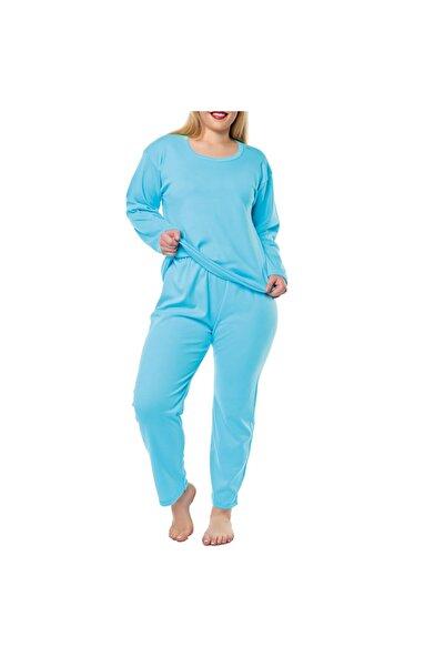 Tutku Kadın Mavi Zenne Pijama Üst 3 Lü