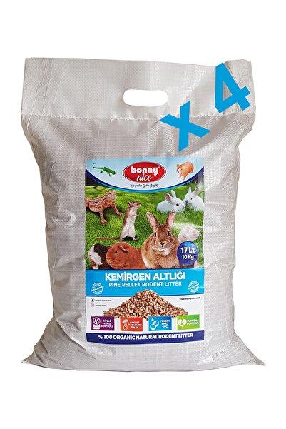 Bonny Nice Çam Pelet Kemirgen Altlığı 10 kg 17 lt X 4 Paket 68 lt