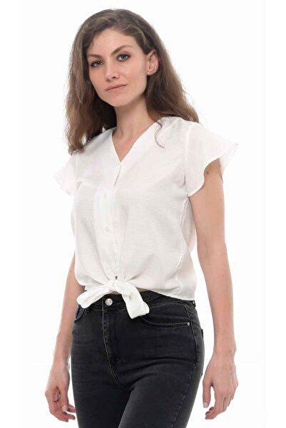 Cazador Cdr 1693 Bağlamalı Kısa Kol Gömlek Beyaz