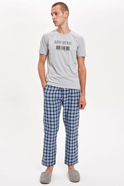 DeFacto Fit Erkek Grey Melange Pijama Takım S4571AZ20AU