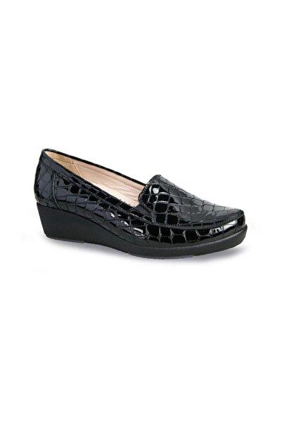 Ceyo Hakiki Deri Siyah Kadın Ayakkabı 9924-8