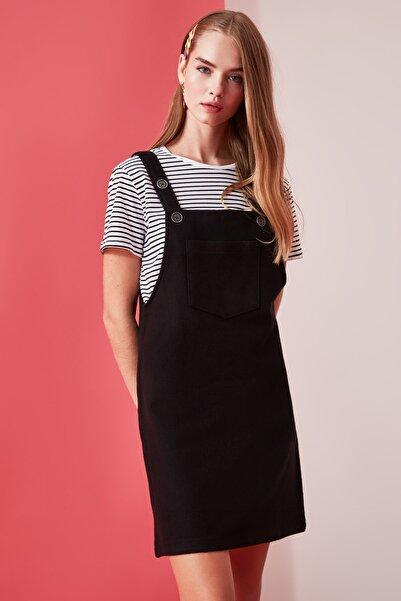 TRENDYOLMİLLA Siyah Jile Elbise TWOAW20EL2134