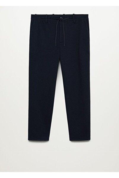 MANGO Man Erkek Lacivert Daralan Paçalı Ultra Comfort Pantolon