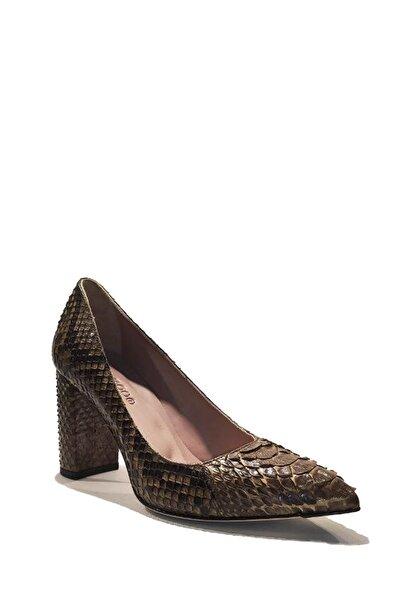 Nursace Hakiki Deri Klasik Topuklu Ayakkabı Nsc19y-a58201 Lamına