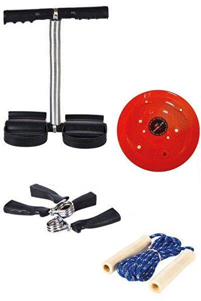 Vivyan 5 Parça Evde Spor Seti Twister + Ayak Yayı + Atlama Ipi + El Yayı 2 Adet