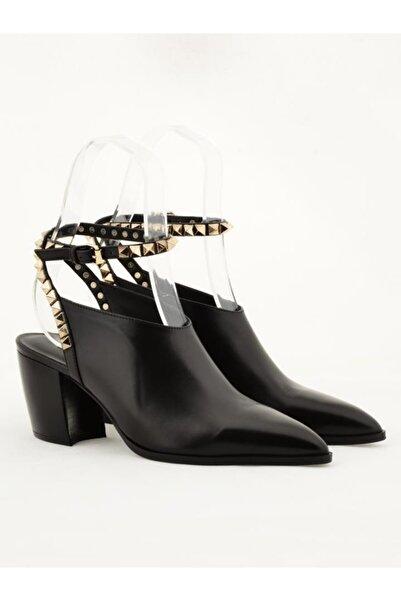 Nursace Hakiki Deri Klasik Topuklu Ayakkabı Nsc19y-a60552