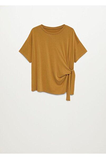 MANGO Woman Kadın Bej Tişört