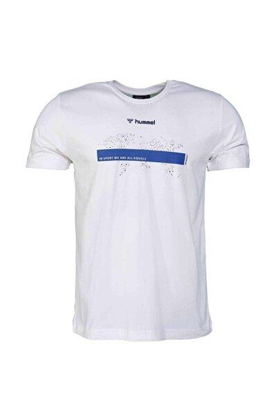 HUMMEL Erkek Beyaz Baskılı Tişört