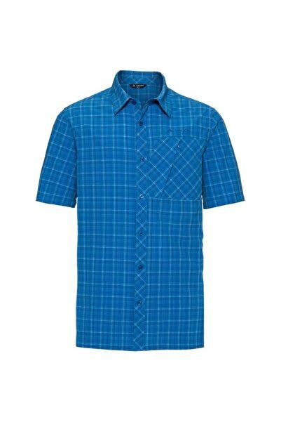 VAUDE Erkek Mavi Kısa Kollu Polo Yaka T-shirt