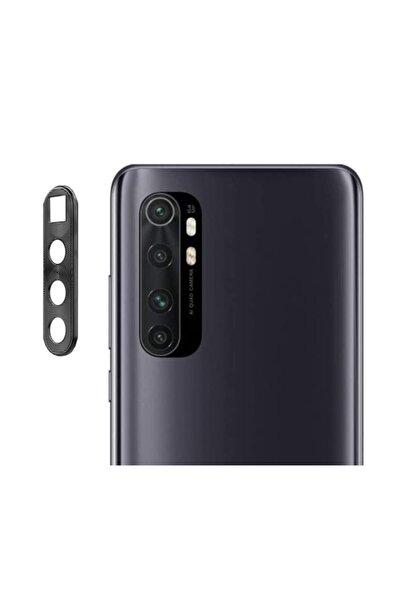 MobilCadde Xiaomi Mi Note 10 Lite Siyah Metal Kamera Lensi Koruyucu