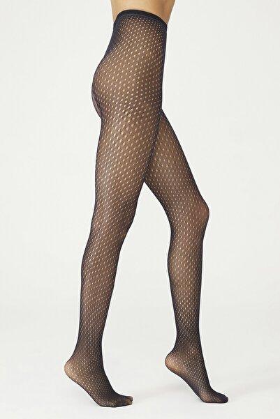 Penti Siyah Trendy File Külotlu Çorap