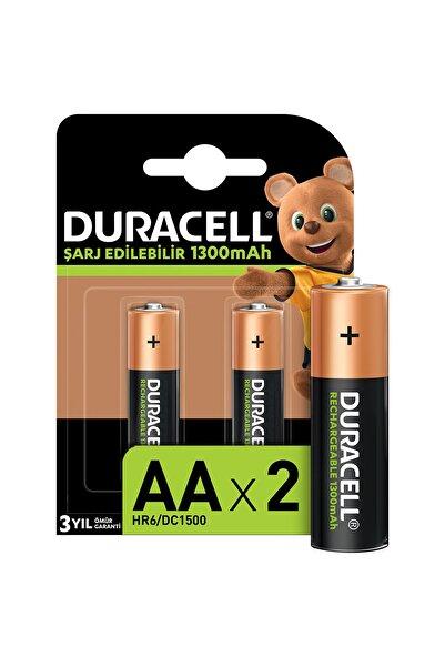 Duracell Şarj Edilebilir Basic AA Piller, 2 Adet 1300 mAh Pil