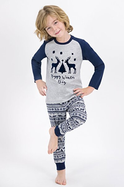 ROLY POLY Erkek Çocuk Rolypoly Happy Winter Day Grimelanj  Pijama Takımı