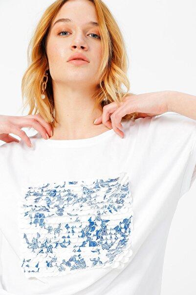 Fabrika Kadın Beyaz Tişört 504395563 Boyner