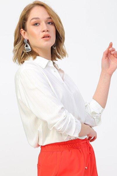 Fabrika Kadın Beyaz Gömlek 504394227 Boyner