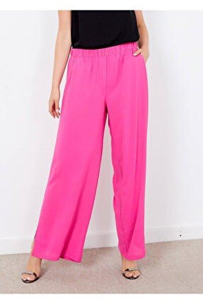 Kadın Pembe Yırtmaçlı Cepli Pantolon