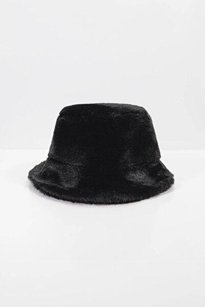Addax Kadın Siyah Yumuşak Dokulu Bucket Şapka ŞPK1032 - F1 ADX-0000022935