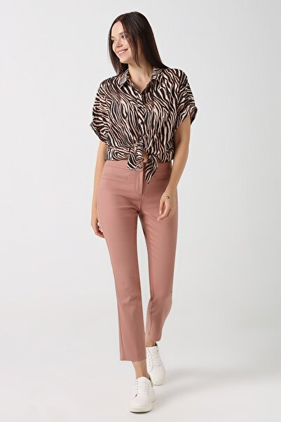 Gusto Kadın Gül kurusu Sihirli Pantolon 20YG001101