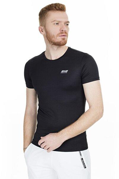New Brand Erkek Siyah 0 Yaka Spor T-Shirt