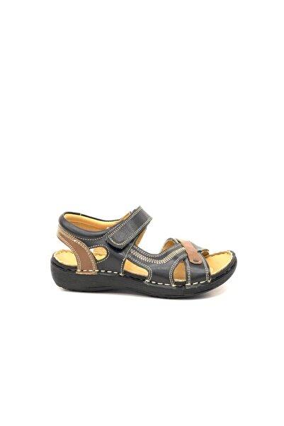Toddler Erkek Çocuk Siyah Hakiki Deri Sandalet 2360