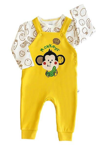 İmaj Erkek Bebek Sarı Maymunlu Tulum