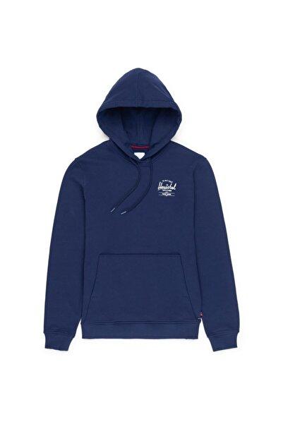 Herschel Supply Co. Erkek Lacivert Herschel Supply Pullover Hoodie Classic Logo Sweatshirt