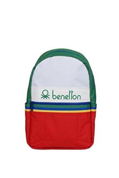 Unisex Benetton Ön Bölmeli Sırt Çantası 70032