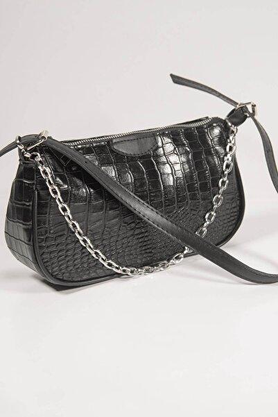 Addax Kadın Siyah Zincir Detaylı Askılı Çanta Ç402 F10 ADX-0000023009