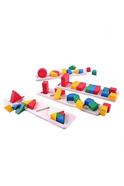 Bircan Oyuncak Ahşap Geometri Şekilleri Puzzle
