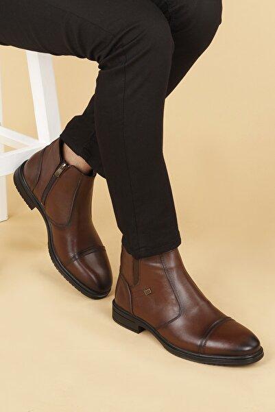 Ayakland Erkek Hrz 096 Deri Kauçuk Taban Fermuarlı Bot Ayakkabı