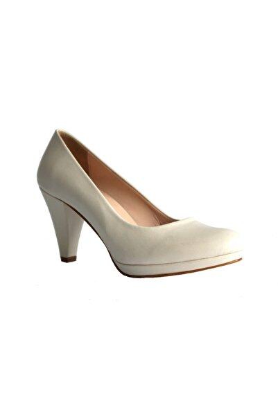 Beta Kadın Ekru Topuklu Ayakkabı