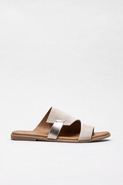 Elle Shoes DALYA Hakiki Deri Bej Kadın Terlik 20YLT426026