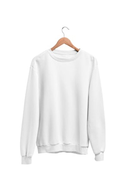 Kadın Beyaz Wear Sweatshirt