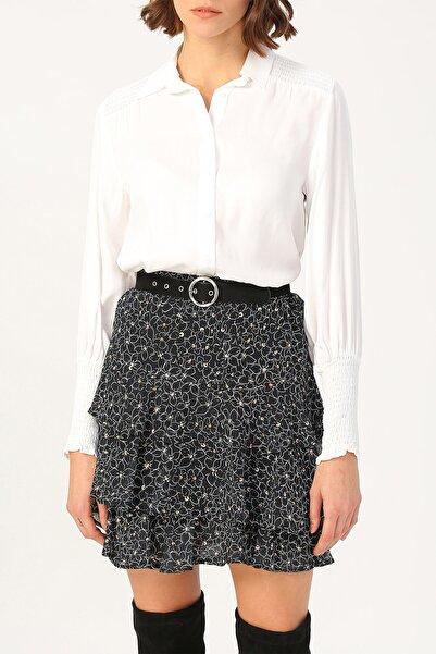 RANDOM Kadın Kolu Ve Omzu Gipe Detaylı Gömlek