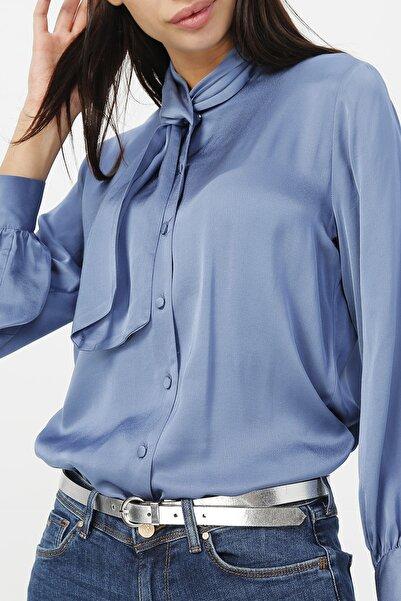 RANDOM Kadın Yaka Detaylı Uzun Kollu Gömlek