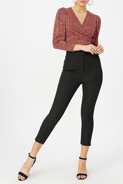 RANDOM Kadın Siyah Klasik Kesim Pantolon