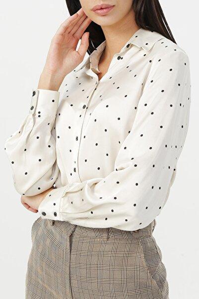 RANDOM Kadın Puantiyeli Uzun Kollu Gömlek