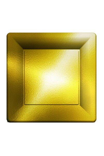 NEWOTO Kare Metalize Altın Tabak 29cm Pk:6