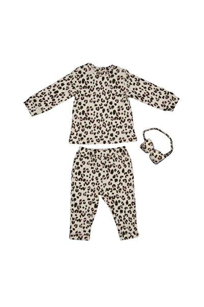 İDİL BABY Kız Bebek Leopar Desenli 2'li  Takımı 13944