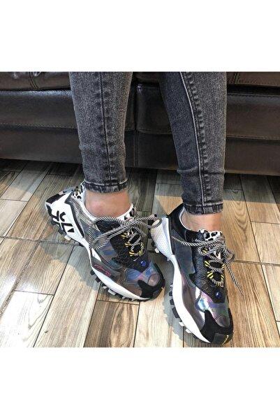 NİSA AYAKKABI Kadın Siyah Spor Ayakkabı